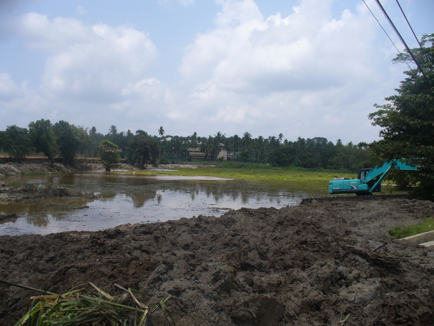 Contruction Work of Kuliyapitiya Kandula Lake